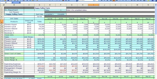 Accounting Spreadsheet Templates Excel 1
