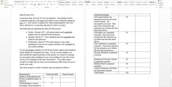 Accounting Worksheets Printable Free