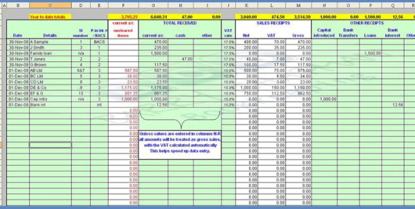 Simple Bookkeeping Examples 2