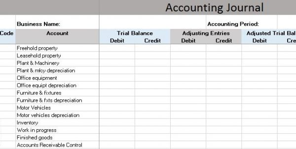 Templates For Accounting Ledger  BesikEightyCo