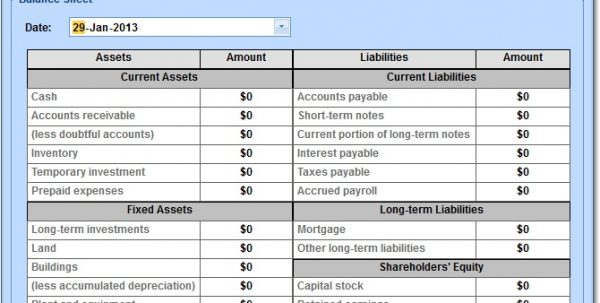 accounting balance sheet and easy obj