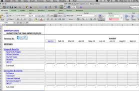 Excel Spreadsheet Template Budget