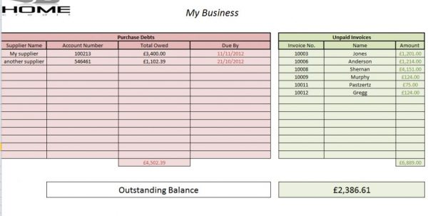 Free Simple Accounting Spreadsheet Template