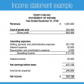 Income And Expense Statement Template Free