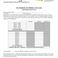 Profit And Loss Statement Form