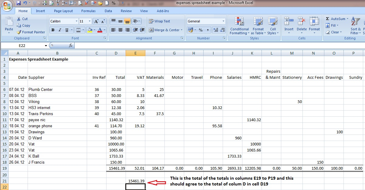 small business accounting spreadsheet examples small