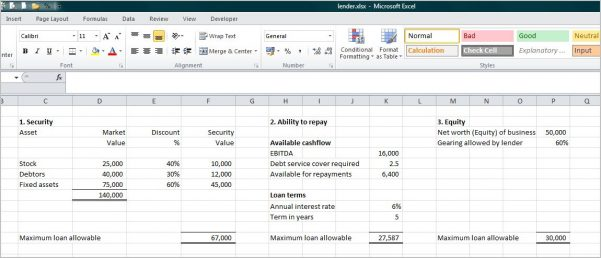 Small Business Accounting Spreadsheet Excel