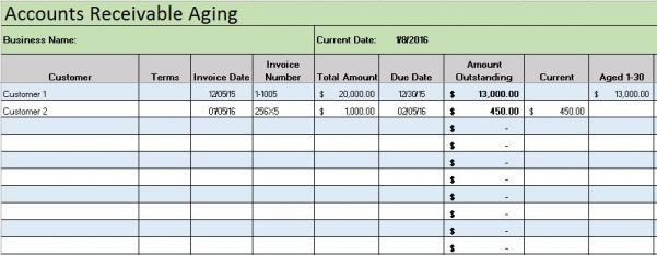 Weekly Bookkeeping Record Template