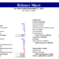 Balance Sheet Software Free Balance Sheet Template Excel Spreadsheet Templates for Busines Balance Sheet Template Excel 2015
