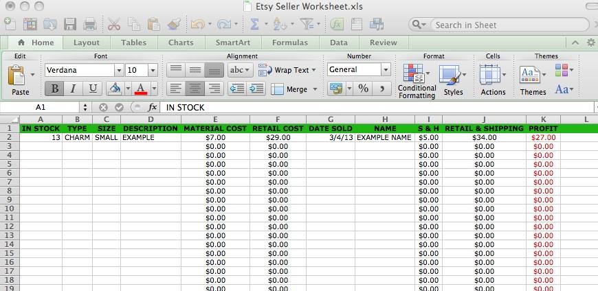 Basic Accounting Formulas Printable Worksheet 1