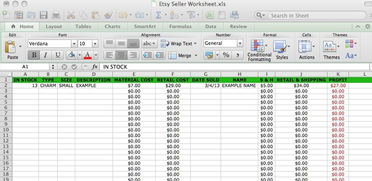 Bookkeeping Spreadsheet Templates