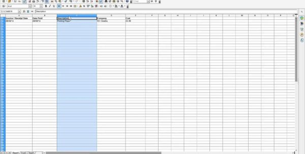 Business Spreadsheet Of Expenses And Income 1
