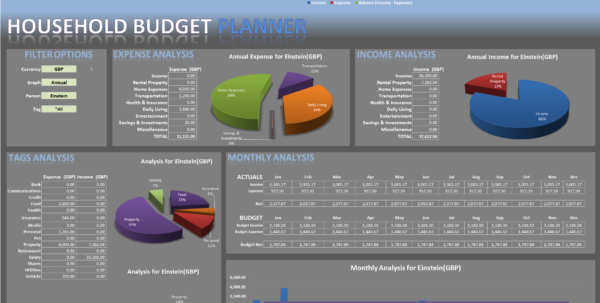 Excel Budget Template For Household