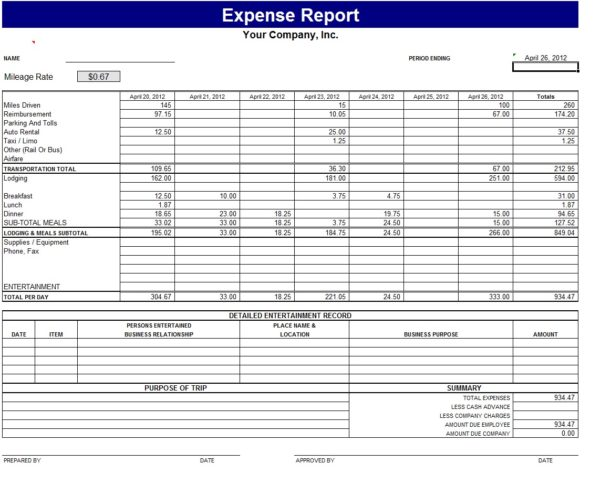 Free Excel Accounting Spreadsheet