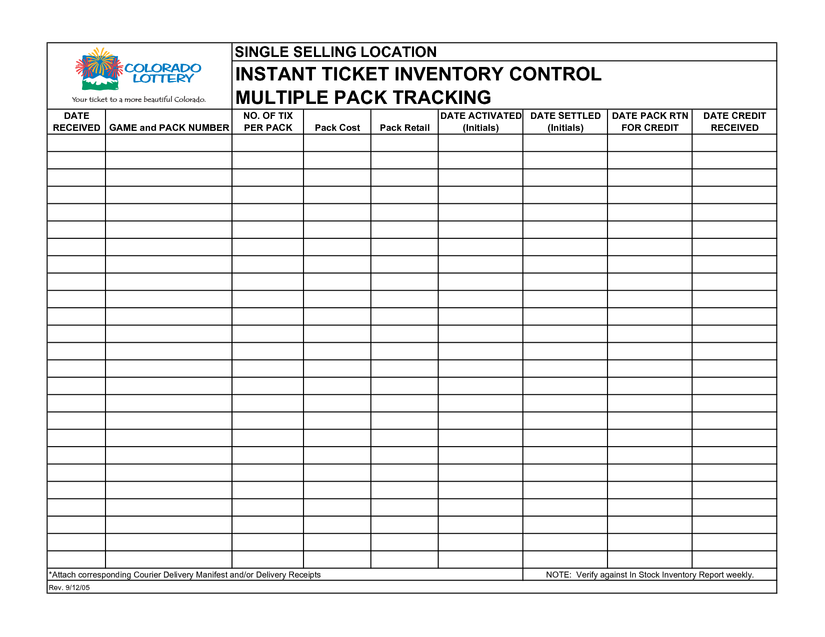 inventory report template excel