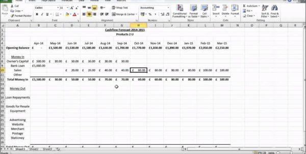 Microsoft Cash Flow Template