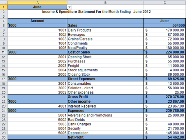 Monthly Rent Statement Template