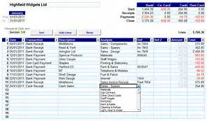 Self Employment Bookkeeping Sample Sheets