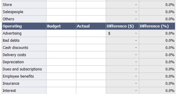 Spreadsheet For Monthly Expenses