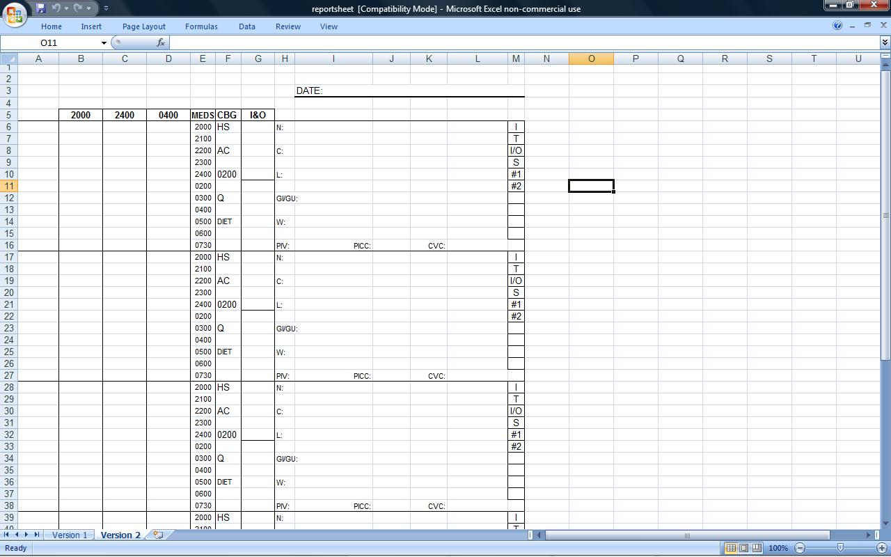 Time Management Template Excel