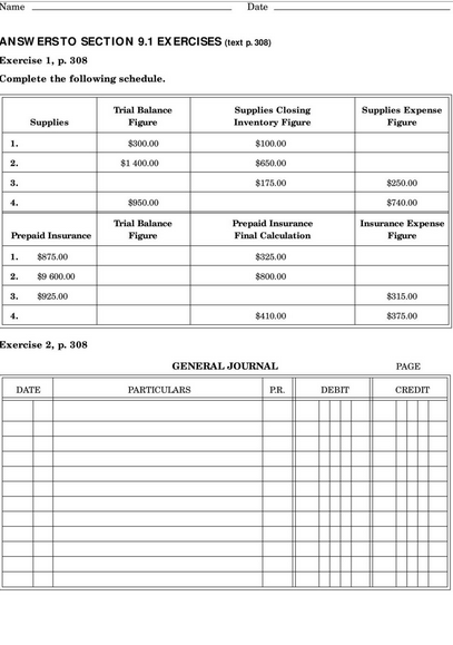 Blank Accounting Worksheet Excel