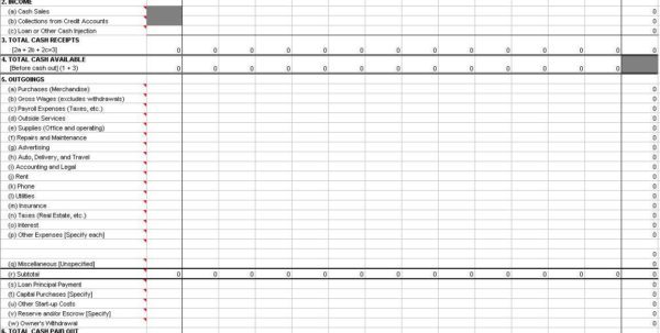 Bookkeeping Spreadsheet Template