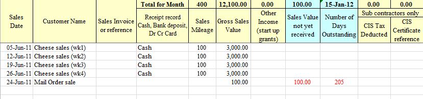 Bookkeeping Spreadsheet Template Uk