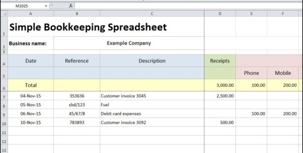 Bookkeeping Spreadsheet Using Microsoft Excel Examples Of Bookkeeping Spreadsheets Bookkeeping Spreadsheet, Bookkeeping Spreadsheet Template, Spreadsheet Templates for Business