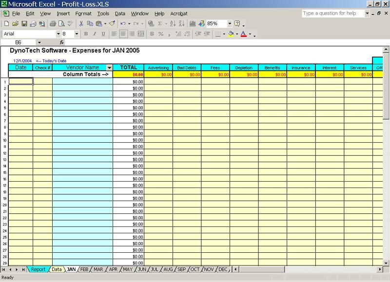 expense tracking template excel
