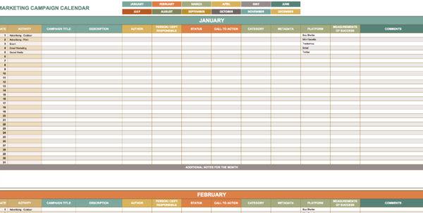 Digital Marketing Plan Template Excel