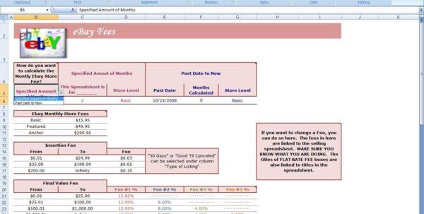 Ebay Excel Templates Download