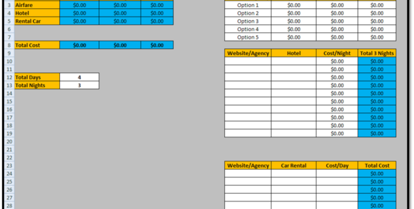 Estimate Excel Template