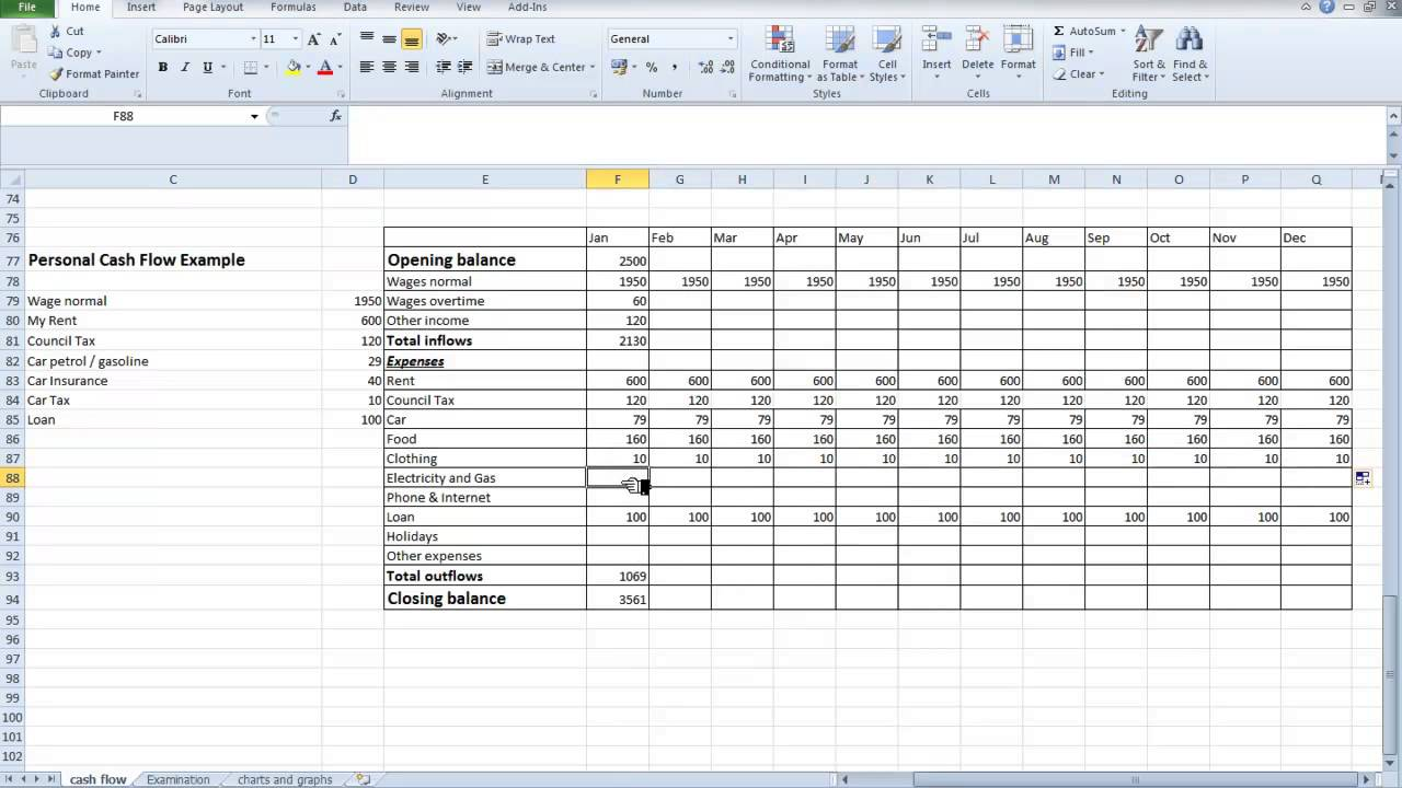 cash flow excel spreadsheet template microsoft spreadsheet