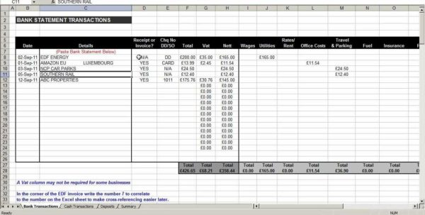 Free Accounting Spreadsheet Templates For Small 1