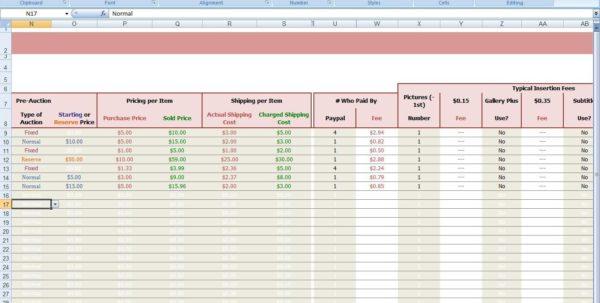 Free Ebay Accounting Spreadsheet