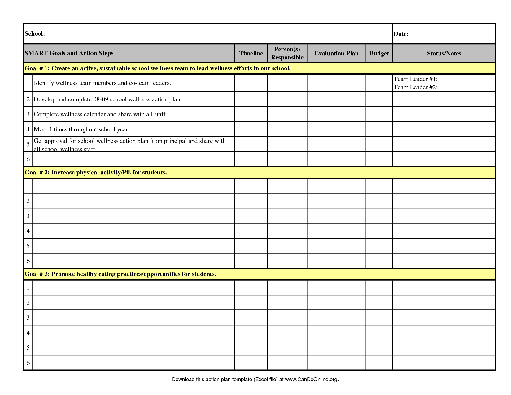 Free Excel Data Templates