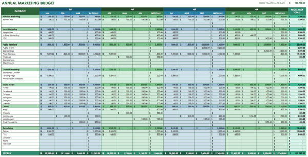 Free Monthly Budget Worksheet