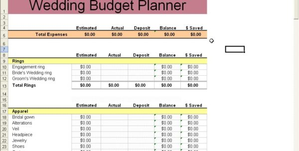 Free Printable Budget Wedding Checklist 1