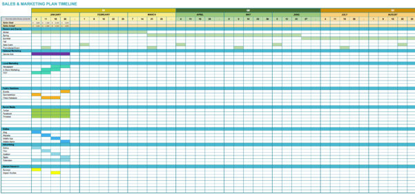 Marketing Project Tracking Sheet Template