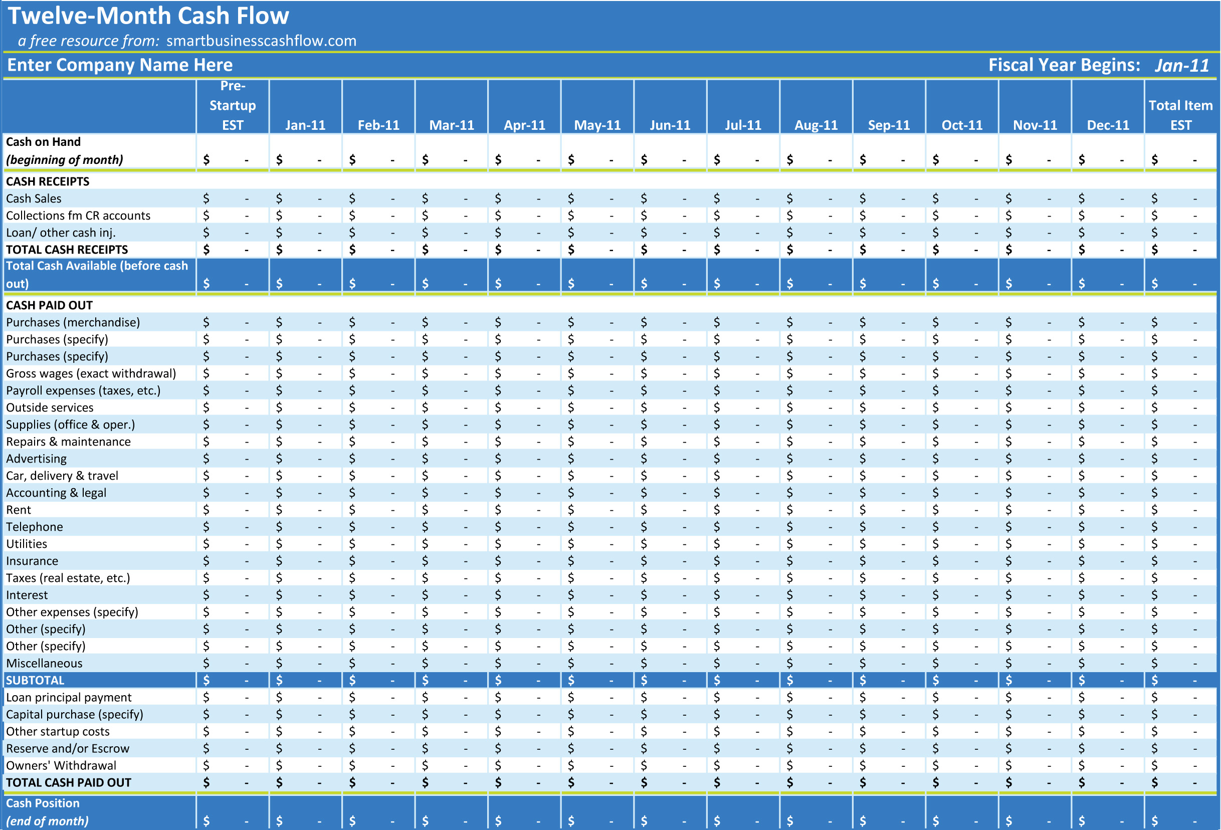 excel cash flow template excel spreadsheet templates cash