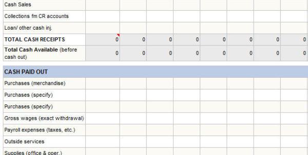 Personal Cash Flow Template Excel