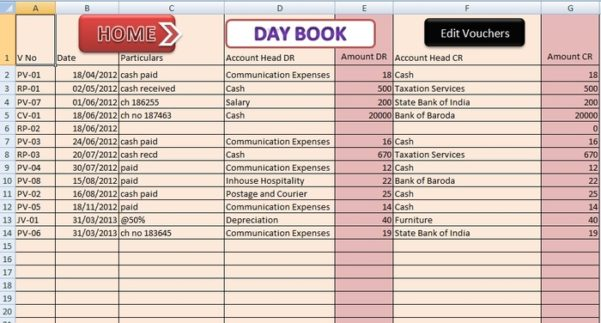 Simple Bookkeeping Excel