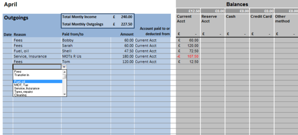 Simple Bookkeeping Format