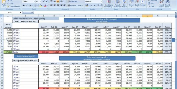 Spreadsheet For Inventory Control