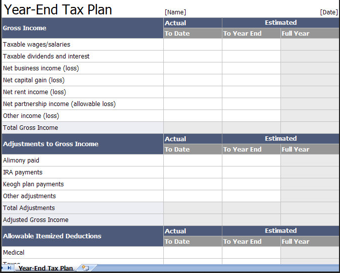 Tax Return Spreadsheet Template Australia