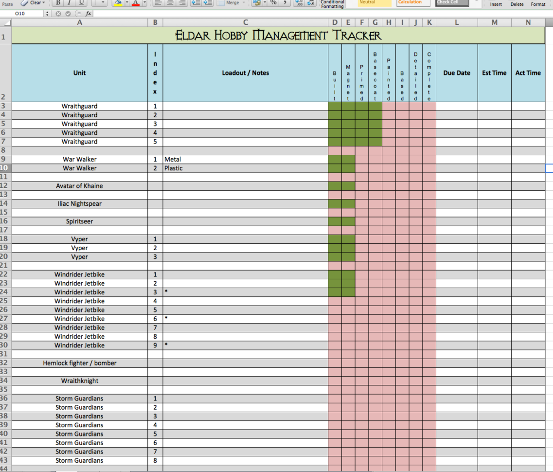 simple excel project management template