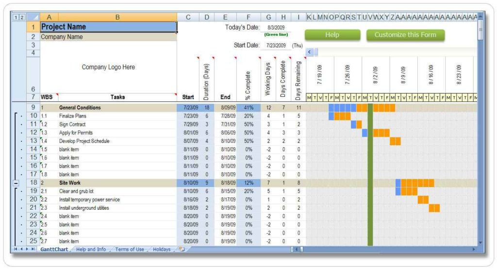Excel Resource Management Template
