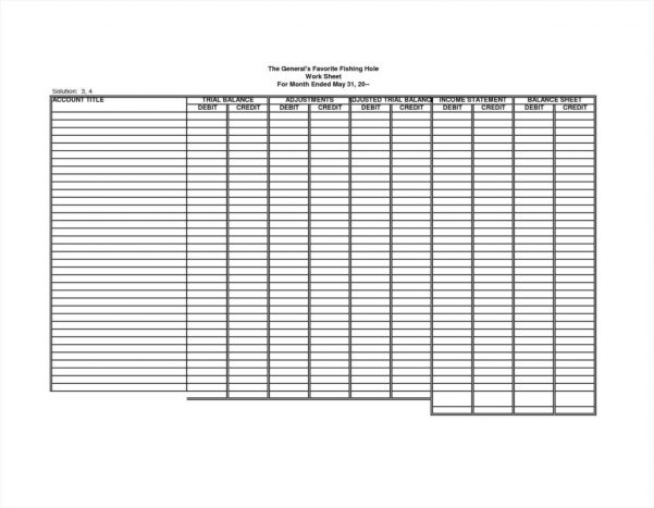Accounting Excel Template Small Business