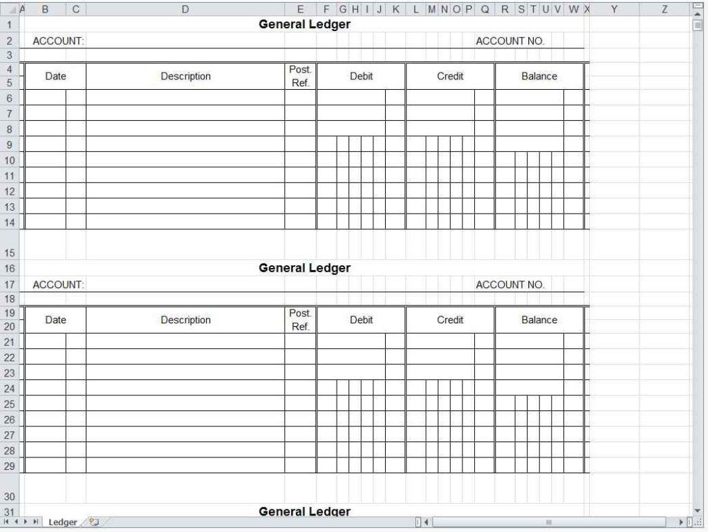 Accounts Spreadsheet Template Uk
