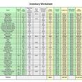 Bar Inventory Sheet Sample